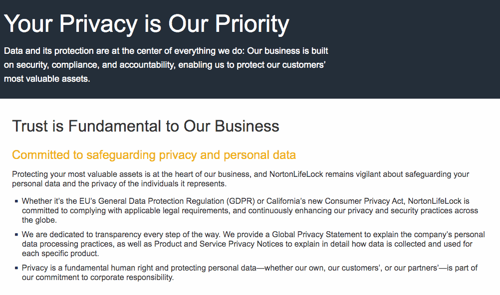 LifeLock Privacy Policy