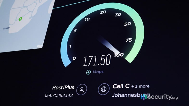 NordVPN Speed Test South Africa
